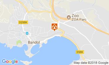 Map Bandol Studio apartment 116007