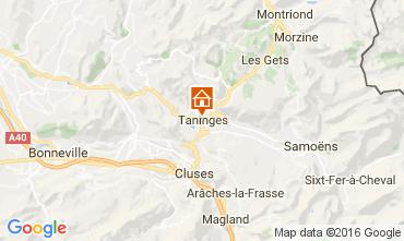Map Praz de Lys Sommand Self-catering property 61499