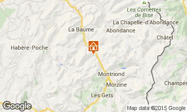 Map Saint Jean d'Aulps- La Grande Terche Apartment 42356