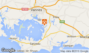 Map Vannes Self-catering property 84538