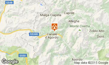 Map Falcade Apartment 55088