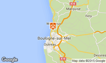 Map Wimereux Self-catering property 99594