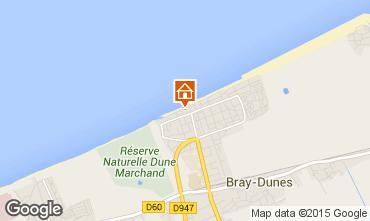 Map Bray-Dunes Studio apartment 101177