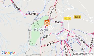 Map La Plagne Studio apartment 2252