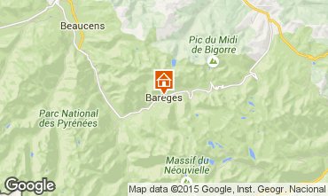 Map Barèges Studio apartment 59518