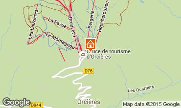 Map Orcières Merlette Studio apartment 28115