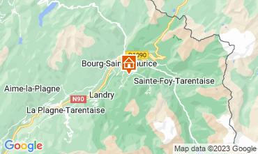 Map Les Arcs Apartment 275