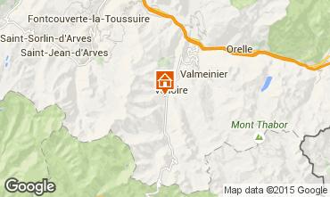 Map Valloire Studio apartment 3414