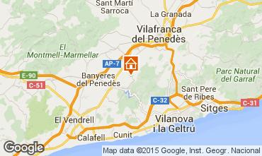 Map Sitges Villa 72356