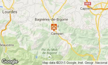 Map Bagnères de Bigorre Self-catering property 70295