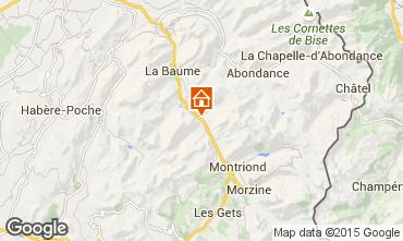Map Saint Jean d'Aulps- La Grande Terche Chalet 27503