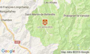 Map Les Menuires Chalet 60440