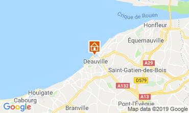 Map Deauville Studio apartment 18891
