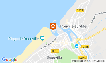 Map Deauville Studio apartment 18891