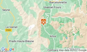 Map La Foux d'Allos Studio apartment 3204