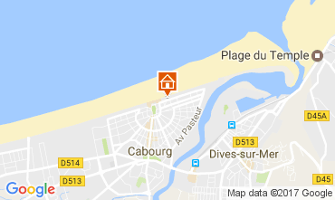 Map Cabourg Apartment 76183