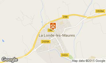 Map La Londe les Maures Apartment 63319