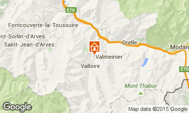 Map Valloire Chalet 3392