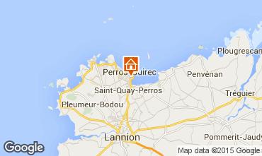 Map Perros-Guirec Apartment 35891