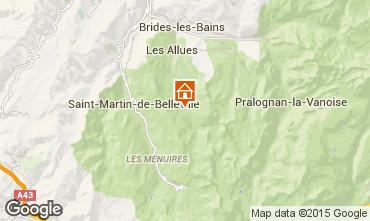 Map Méribel Apartment 101098