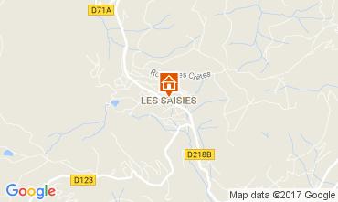 Map Les Saisies Studio apartment 2724
