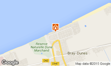 Map Bray-Dunes Apartment 97746
