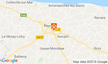 Map Bayeux Self-catering property 119529