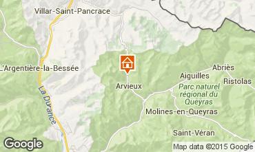 Map Arvieux en Queyras Studio apartment 536