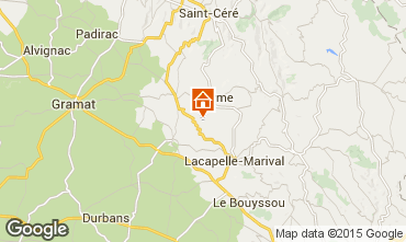 Map Rocamadour Self-catering property 79870