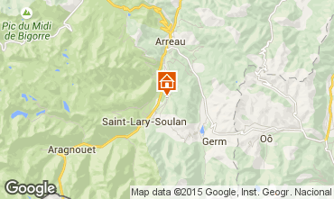 Map Saint Lary Soulan Self-catering property 65220