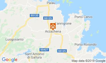 Map Arzachena Apartment 118910