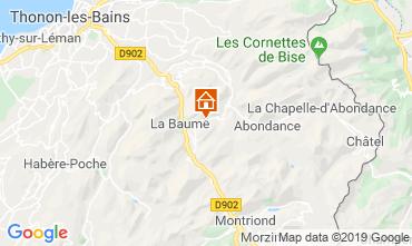 Map Drouzin Le Mont Studio apartment 34212