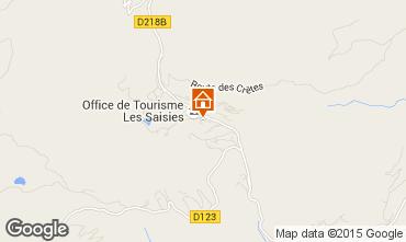 Map Les Saisies Apartment 2711