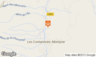 Map Les Contamines Montjoie Chalet 971