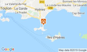 Map Hyères Apartment 118190