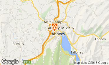 Map Annecy Studio apartment 79533
