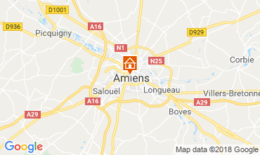 Map Amiens Apartment 117425
