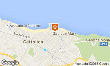 Map Cattolica Apartment 82196