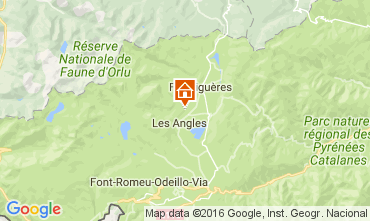 Map Les Angles Chalet 106862