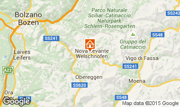Map Carezza Apartment 38385