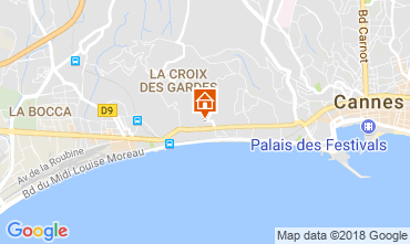 Map Cannes Apartment 114426