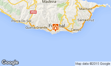 Map Funchal Studio apartment 78026
