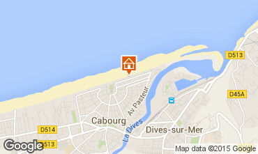 Map Cabourg Apartment 79299
