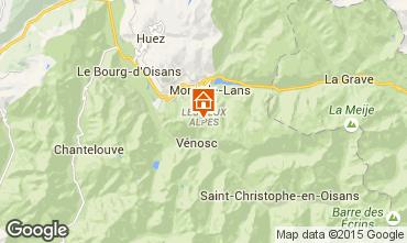 Map Les 2 Alpes Studio apartment 27068