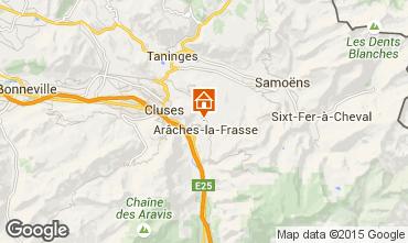 Map Les Carroz d'Araches Self-catering property 634