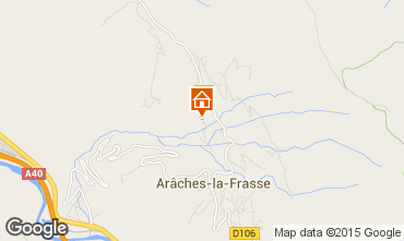 Map Les Carroz d'Araches Self-catering property 634