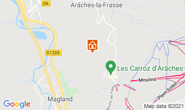 Map Les Carroz d'Araches Apartment 50169