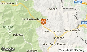 Map Serre Chevalier Chalet 14631
