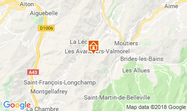 Map Valmorel Apartment 59108