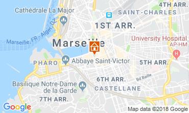 Map Marseille Studio apartment 5963